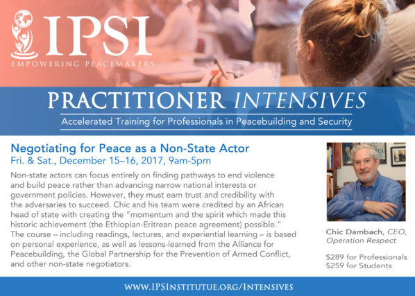 NegotiationNonStateActor