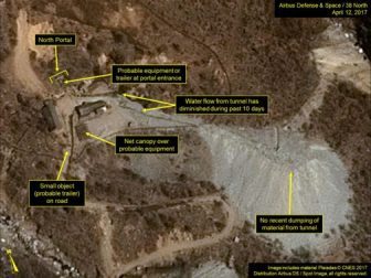 NORTH KOREA Main nuclear test site has collapsed