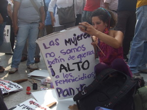 "Mexican women say ""We are not spoils of war"".  / Credit:Daniela Pastrana /IPS"