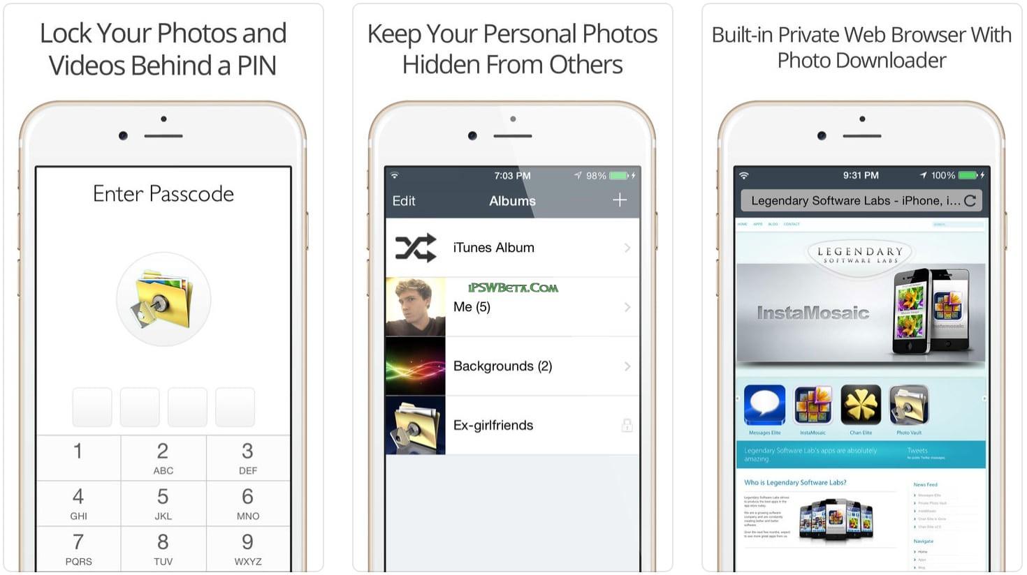 Vault app for iphone