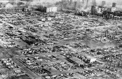 One of the first aerial news photos was of the Salem fire aftermath