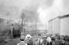 People watched helplessly as the town burned