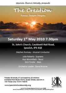 May 2010 concert poster