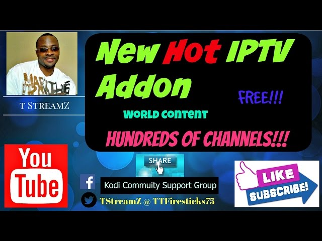 The Best & Hottest FREE IPTV Kodi Addon