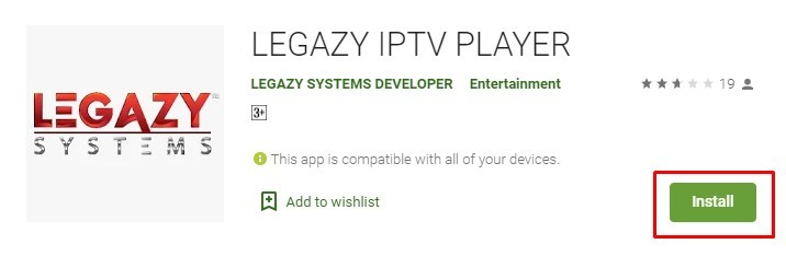 Legazy IPTV Player