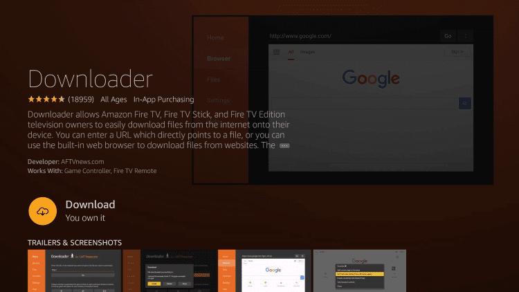downloader app- install Freeflix  on Firestick