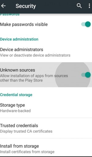 Tap to Enable Unknown Sources