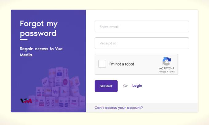 Forgot password - Vue Media IPTV
