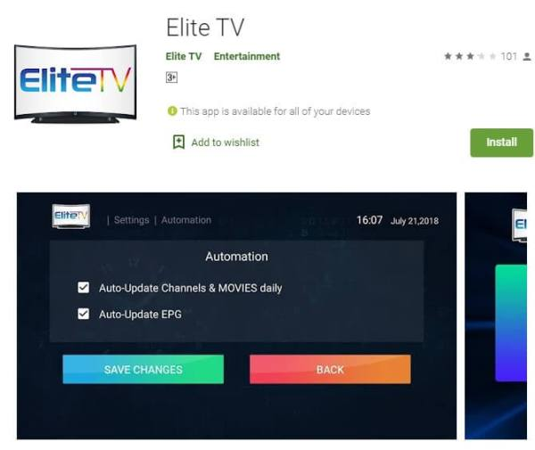 Install Elite TV