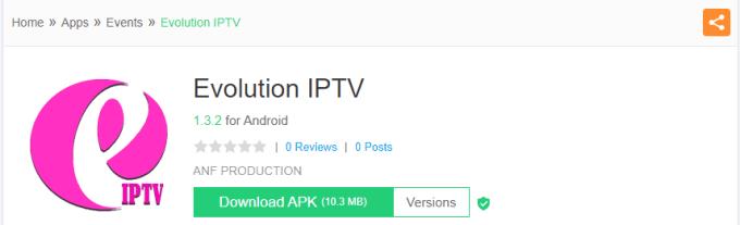 Install Evolution IPTV on Android