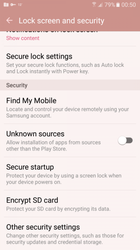 Enable Unknown Sources on Android