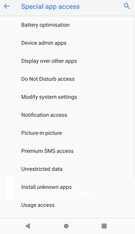 Install Apps from Unknown Sources