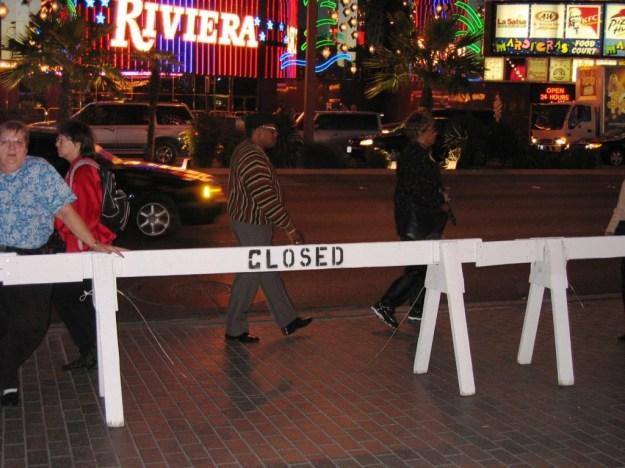 Westward Ho, Las Vegas - closing night November 25, 2005 - Closed