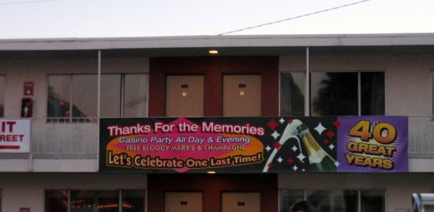 Westward Ho, Las Vegas - closing night November 25, 2005 thanks for the memories