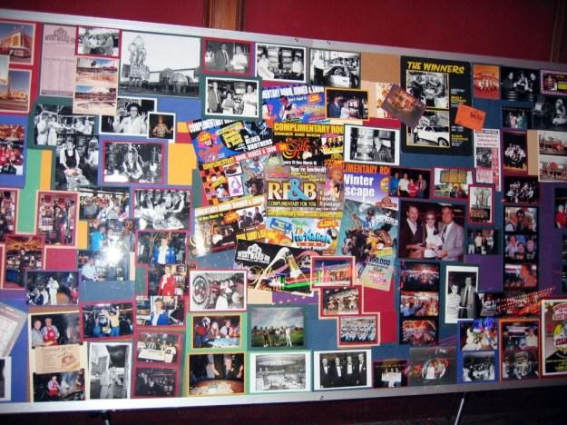 Westward Ho, Las Vegas, Nevada wall of postcards pictures