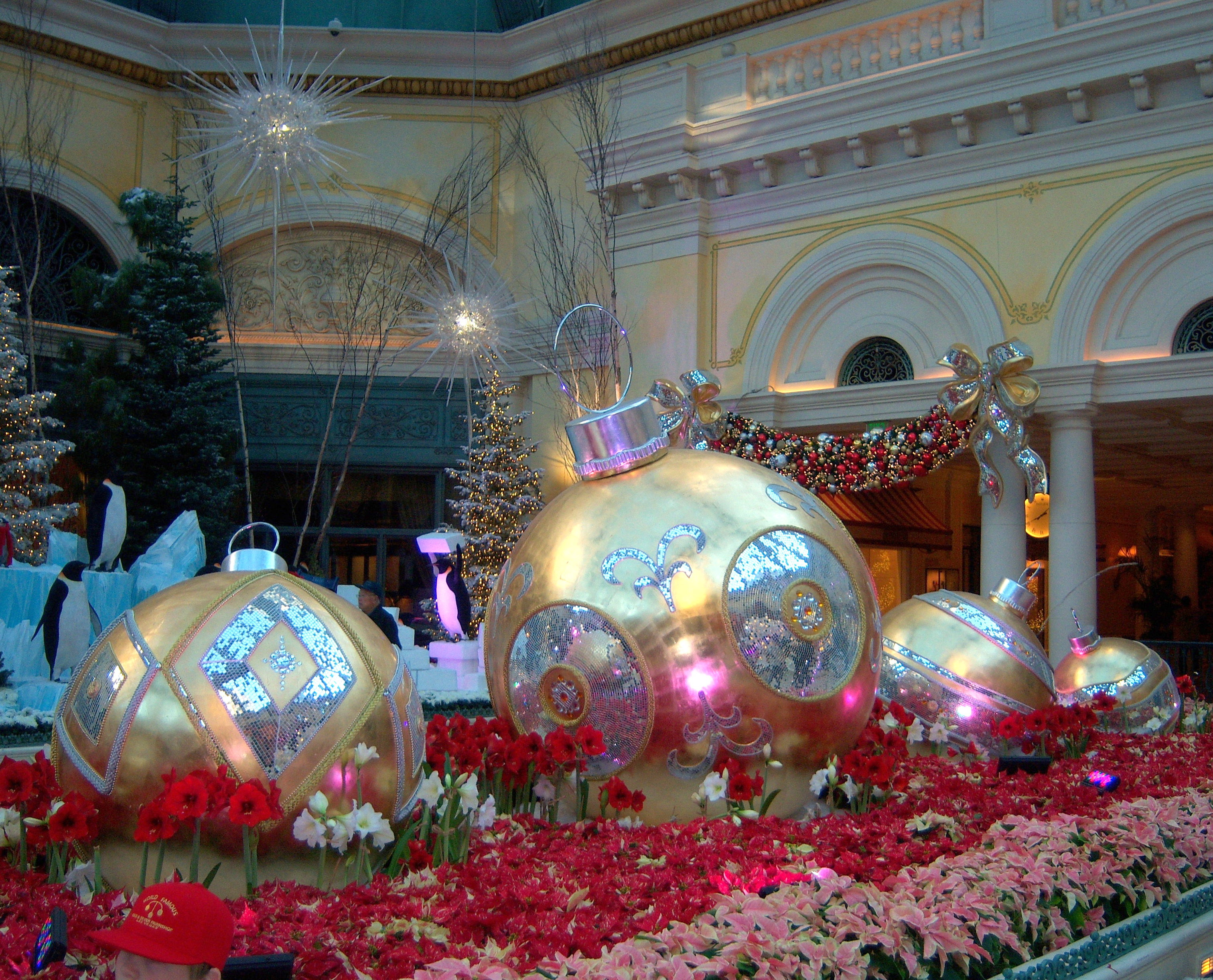 bellagio conservatory christmas ornaments las vegas nevada - Las Vegas Christmas Decorations