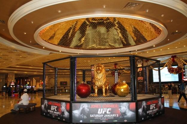 MGM Grand Las Vegas golden lion reception