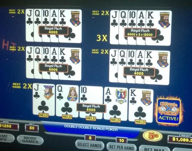 dealt royal flush ultimate x video poker
