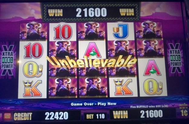 216 buffalo slot machine win