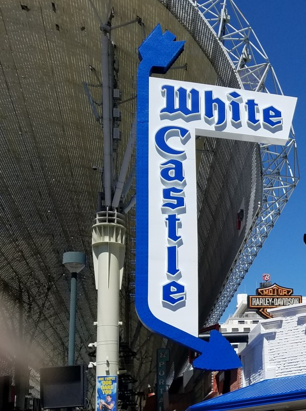 white castle sign fremont street las vegas