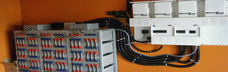 off grid battery bank installed by IPS Integrated Power Systems Kelowna BC