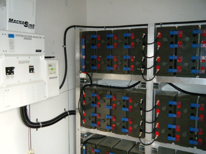 Off-Grid Battery Rack