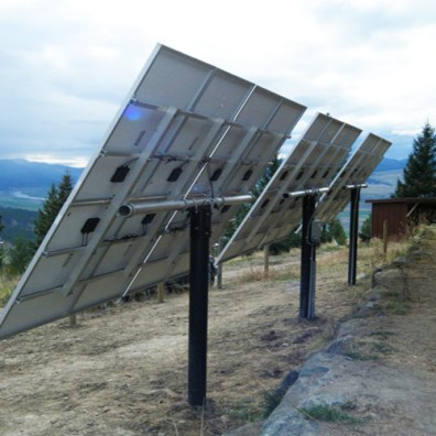 Panels on Top of Pole Mounts