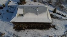 winter view metal roof