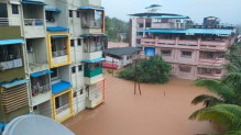 RATNAGIRI. July 22Flooded area of in Chiplun town as downpour continues in entire coastal belt of MAHARASHTRA