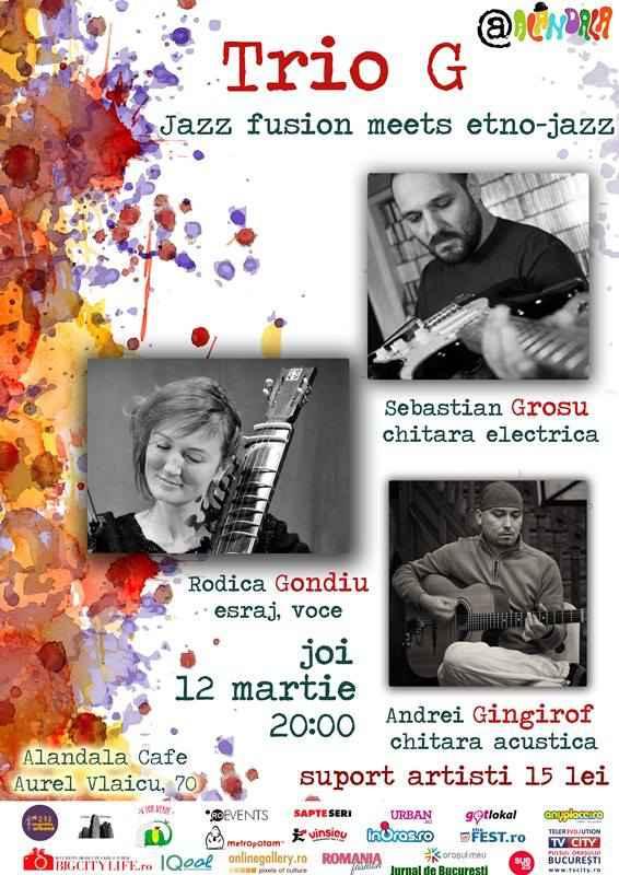 12.03 - Concert Trio G - Jazz fusion meets etno-jazz
