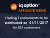 Affiliate News - termination of tournaments in EU