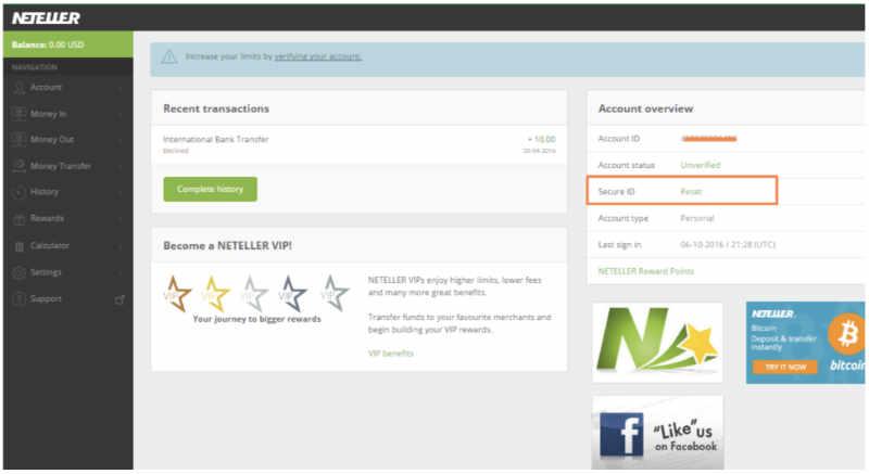 neteller deposit to iqoption password reset