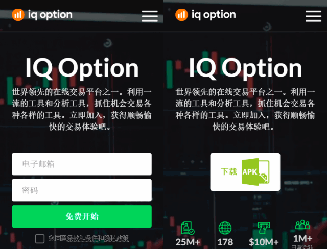 5 new iqoptoin optimised mobile landing pages 5