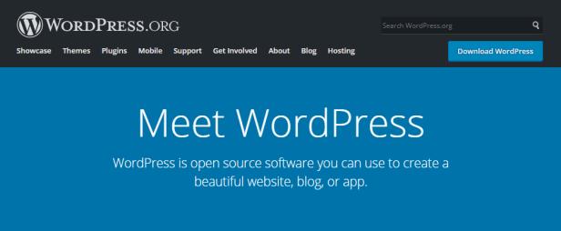 wordpress.org homepage