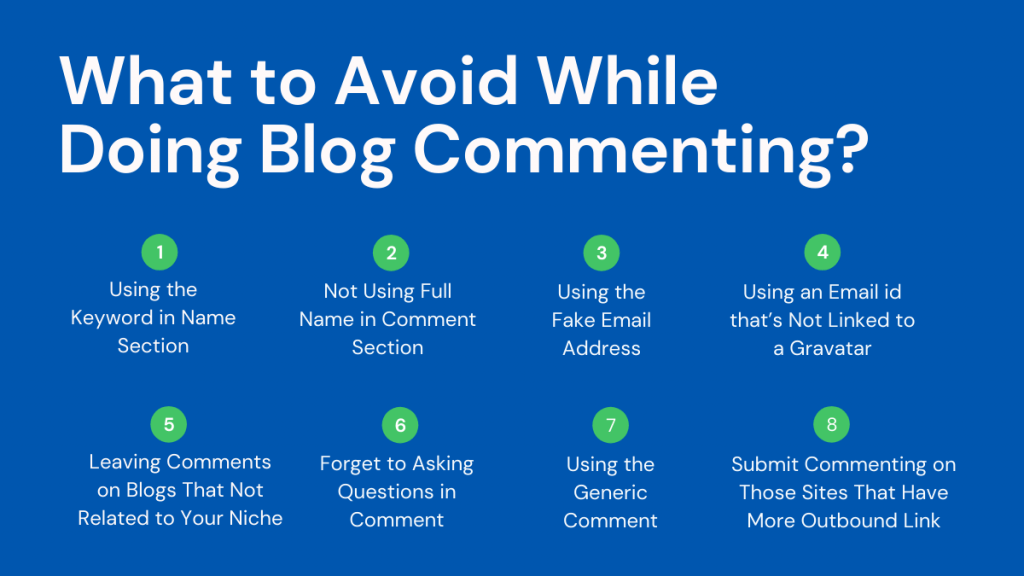 What to Avoid While Doing Blog Commenting
