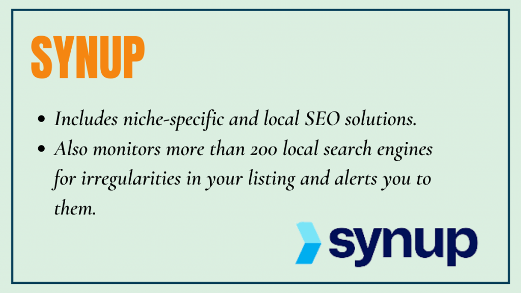 SYNUP - local seo tool