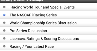 Android iRacing Forum App