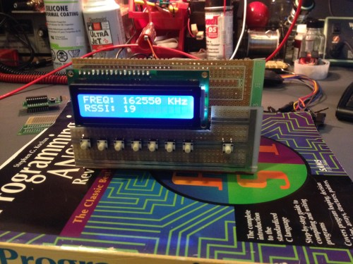 LCD Display of Si4707 Weather Band Radio Project