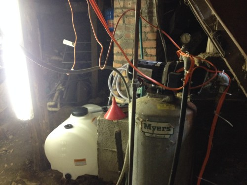 Pump and Water Tank in the basement