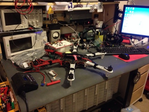 Hexacopter on the bench