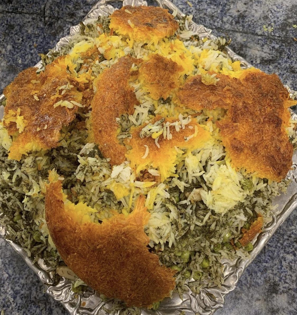Sabzi polo : Persian herb rice