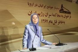مريم رجوي ندوة الجاليات الايرانية ذكرى مجزرة 1988 في ايران 2