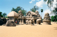Image of Pallava Temple at<br /><br /><br /><br />  Mamallapuram
