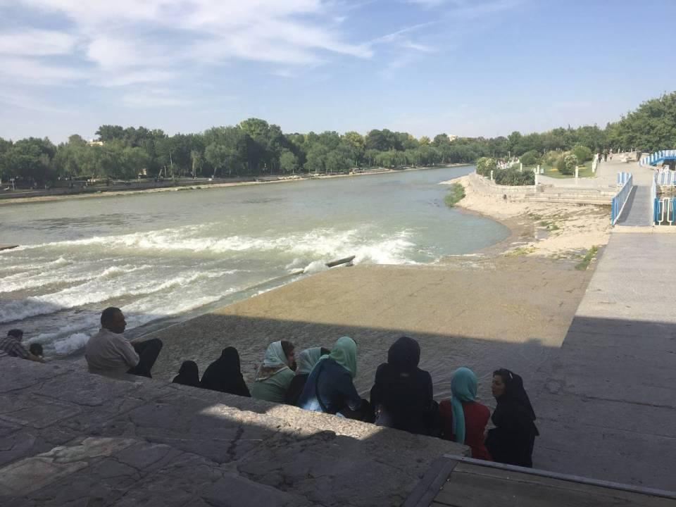 The Zayandeh Rud river in Isfahan. Photo by Fariba Amini