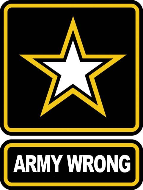 Army Wrong