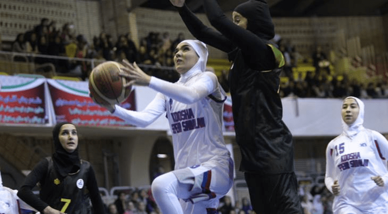 FIBA exhibition contest between Gaz and Koosha Sepehr in Tehran, Iran was the first time men could attend a match to watch women play in the Islamic Republic