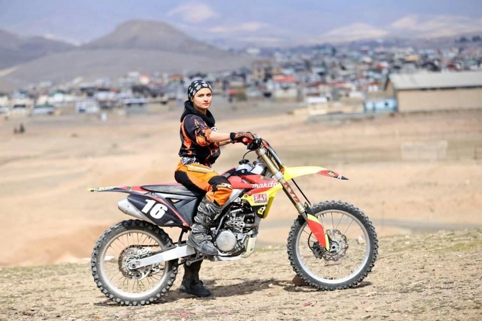 Iranian female motorbike champion Behnaz Shafiei