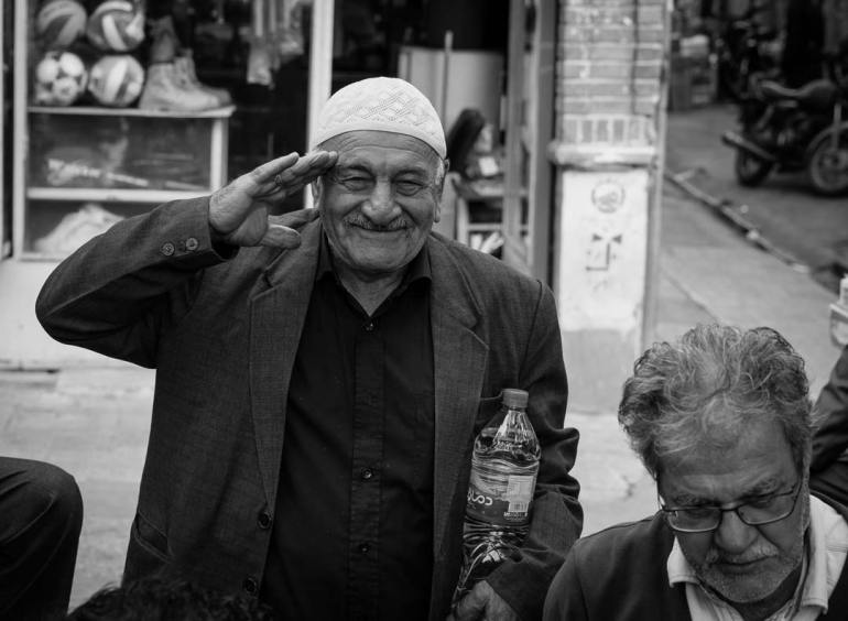 Visa-On-Arrival-In-Iran-Old-Man-Near-Backgammon-BW