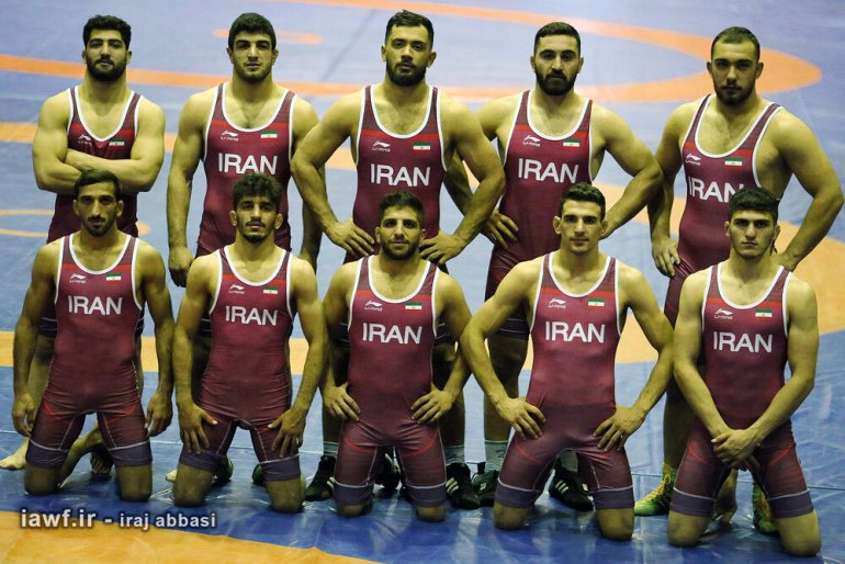 Iran-U23-freestyle-wrestling-team