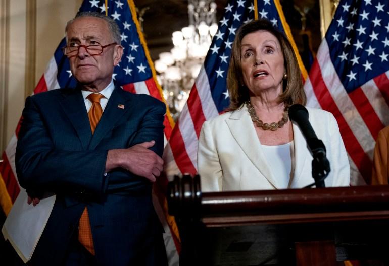 Image: Nancy Pelosi, Chuck Schumer, Debbie Stabenow